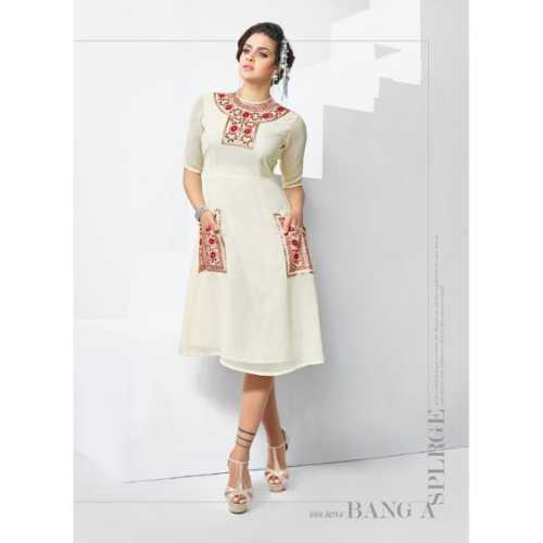 Charming off White Designer Kurti