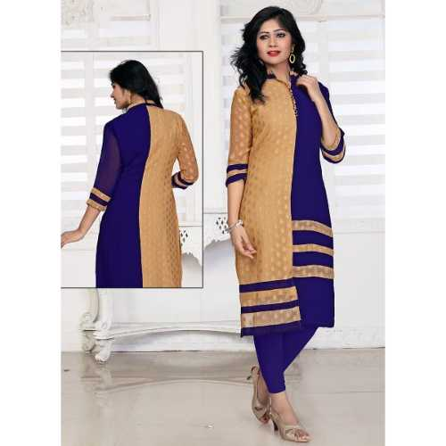 Cream Color with Lace Work Incredible Readymade Kurti