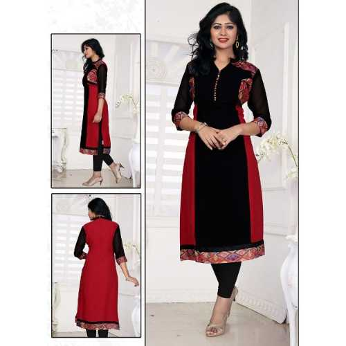 Georgette Black color Incredible Readymade Kurti