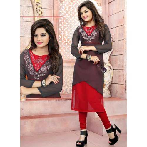 Incredible Straight Kurti in Grey