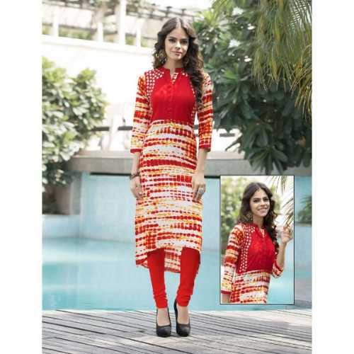 Superb Red and White Designer Kurti
