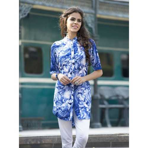 Graceful Blue and White Designer Kurti