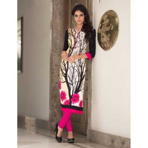 Graceful Cream Designer Kurti