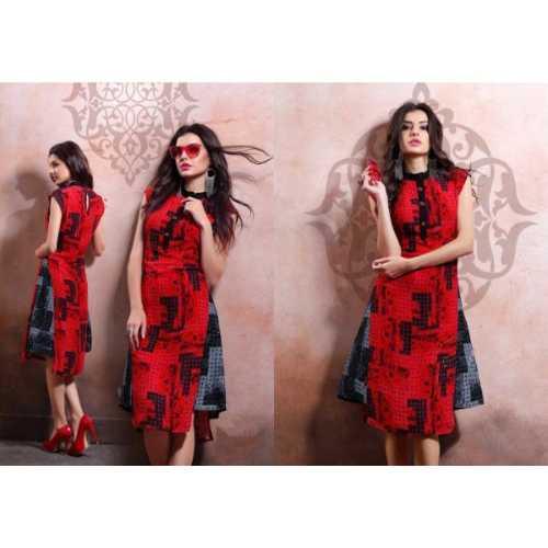 Cool Red Designer Kurti - 2