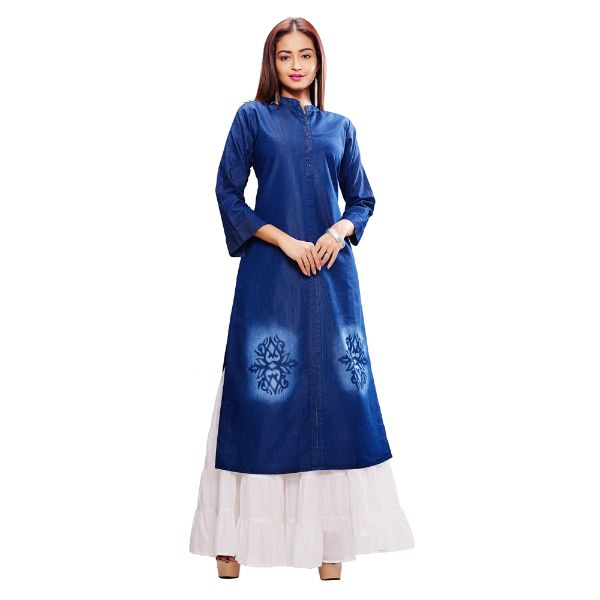 Viva N Diva Blue Colored Denim Kurtis - 3