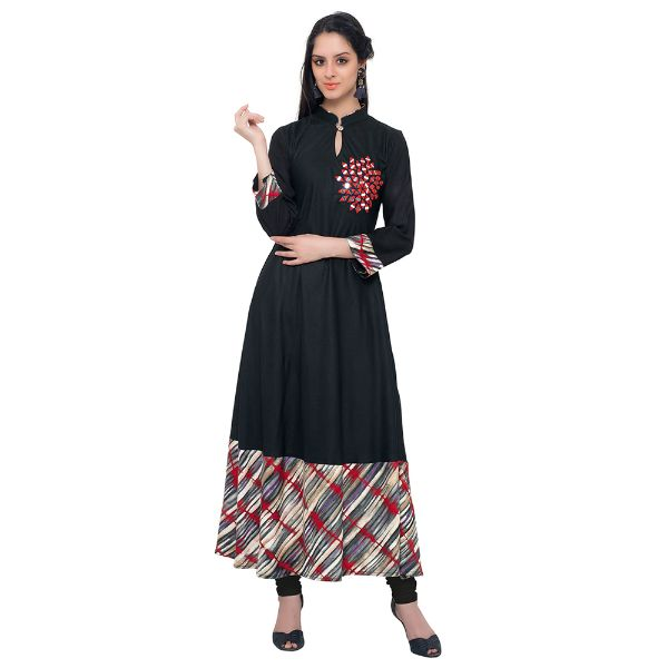 Viva N Diva Black Colored Cotton Kurti
