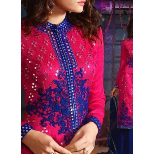 Achkan Style Pink Color with Mirror Work Incredible Unstitched