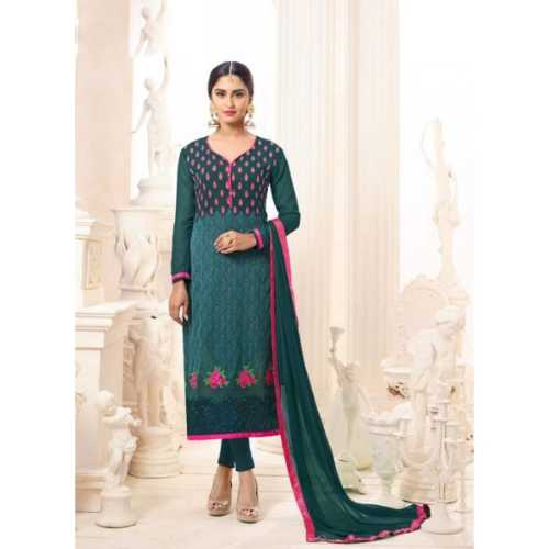 Green with Crystals Stones Work Amazing luxury Salwar Kameez