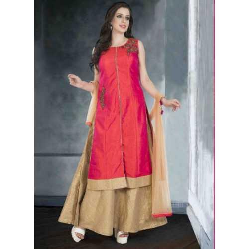 Pink Chanderi Silk Incredible Salwar Kameez