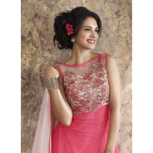 Net & Chiffon Anarkali Style Incredible luxury Salwar Kameez