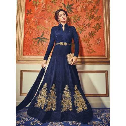 Blue Silk Incredible party wear Indian Salwar Kameez