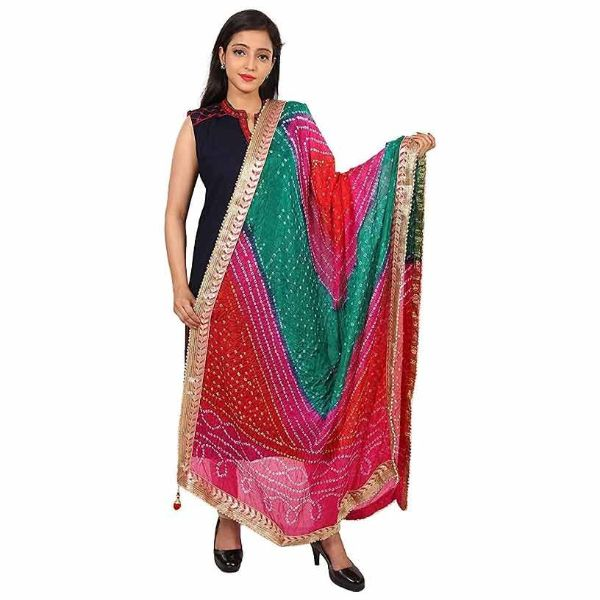 Bandhani Dupatta with Zari Border