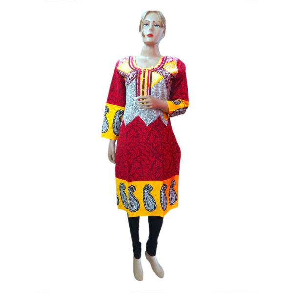 Round - Neck Cotton Kurti - 4