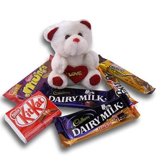 Teddy Chocolate Hamper