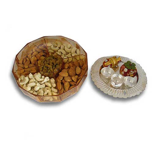Dry Fruits & Silver Thali 23