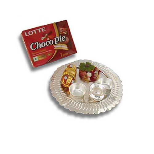 Silver Thali & Chocopie
