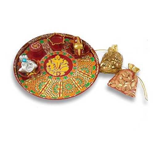 Steel Thali & Dry Fruits 25