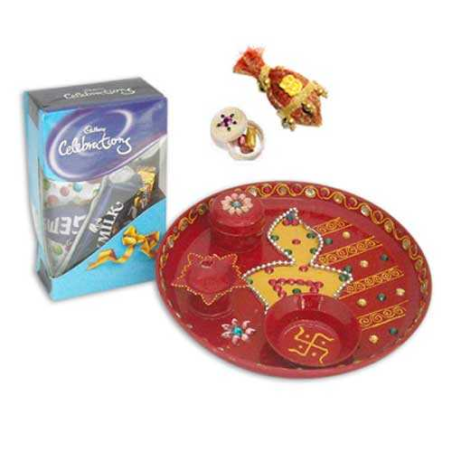 Pooja Thali & Chocolates - 10791 - Canada Delivery