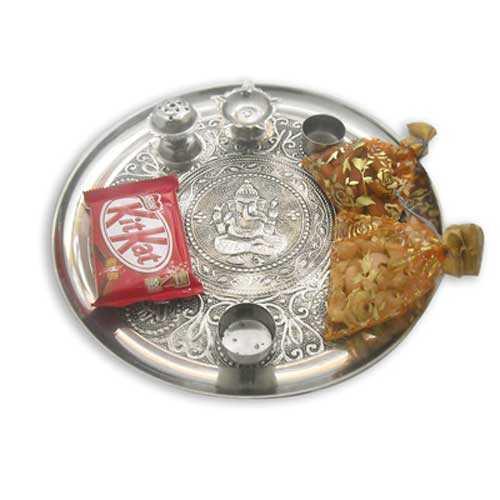 Lord Ganesh Pooja Thali - 10610 - UK Delivery