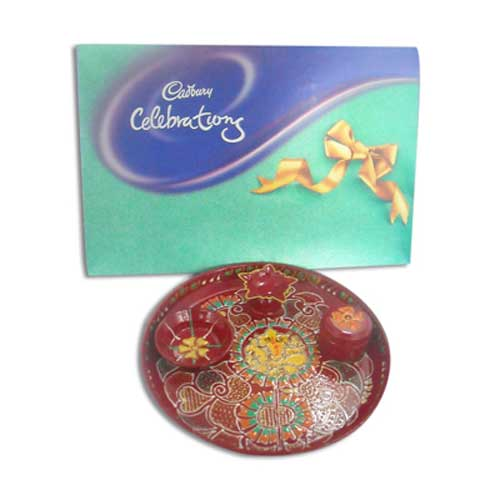 Lord Ganesh Pooja Thali & Celebrations 10612 - UK Delivery