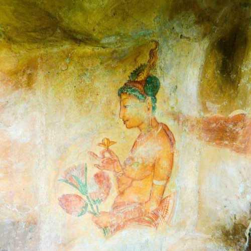 Apsara Painting At Sigiriya Rock