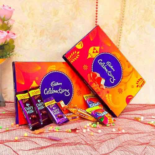 2 Cadbury's Celebrations Small with Rakhi