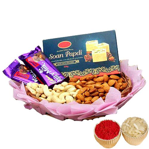 Soan Papdi, Kaju, Badam & Chocolate - Canada Delivery Only