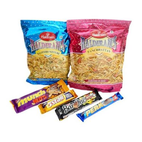 Namkeen & Chocolates Hamper - CANADA Delivery Only