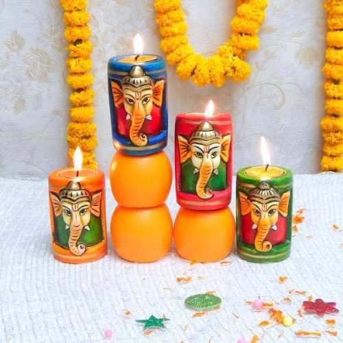 Lord Ganesh Diya - Canada Delivery Only