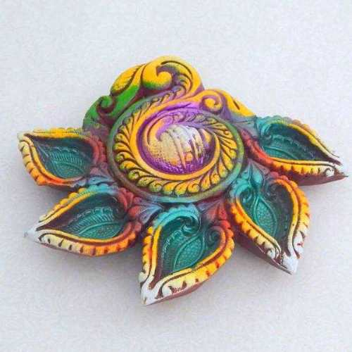 Shankh Terracotta Panch Diya