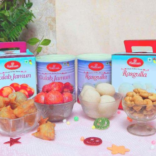 Sweets & Namkeen hamper - India Delivery Only