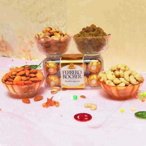 Dry Fruits & Chocolate Hamper - USA Delivery Only