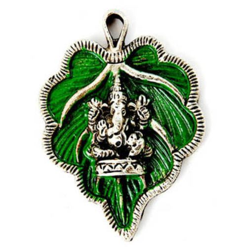 Leaf Ganesh Wall Hanging Small