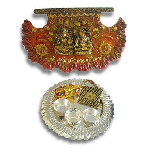 Silver Thali With Wall Hanging 16