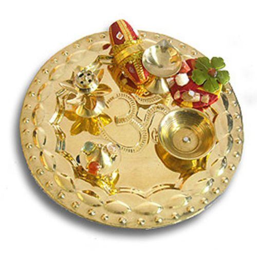 OM Brass Thali 17 - AUSTRALIA Delivery Only