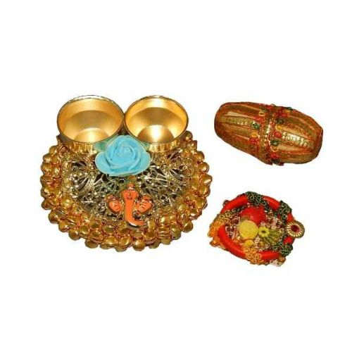 Auspicious Lord Ganesh Puja Thali - USA Delivery Only