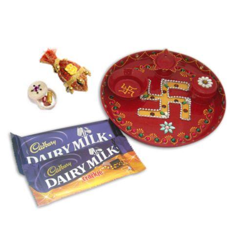Pooja Thali & Chocolates - 10787
