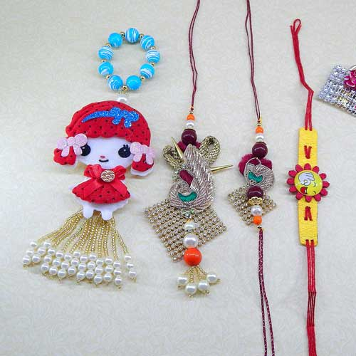Family Rakhi Set - 01 - UK Delivery Only