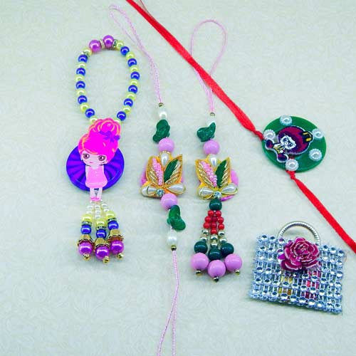 Family Rakhi Set - 02 - UK Delivery Only