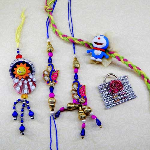 Family Rakhi Set - 04 - CANADA Delivery Only