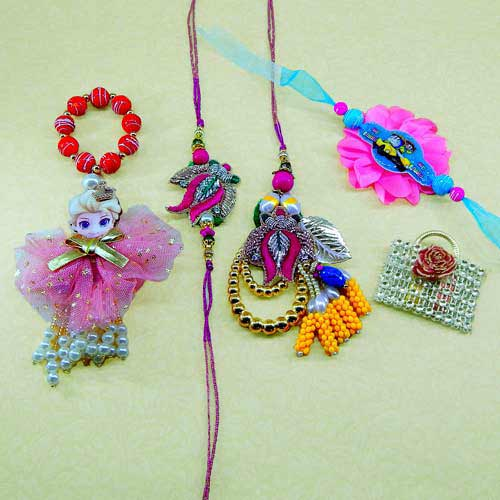 Family Rakhi Set - 08 - AUSTRALIA Delivery Only