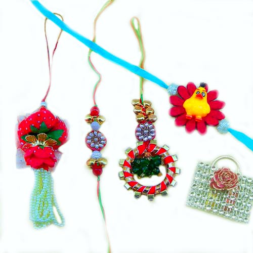 Family Rakhi Set - 09 - CANADA Delivery Only