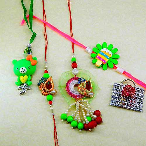 Family Rakhi Set - 10 - CANADA Delivery Only