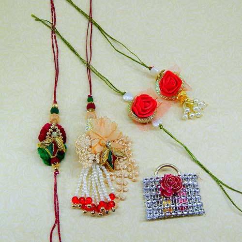 Family Rakhi Set - 11 - CANADA Delivery Only