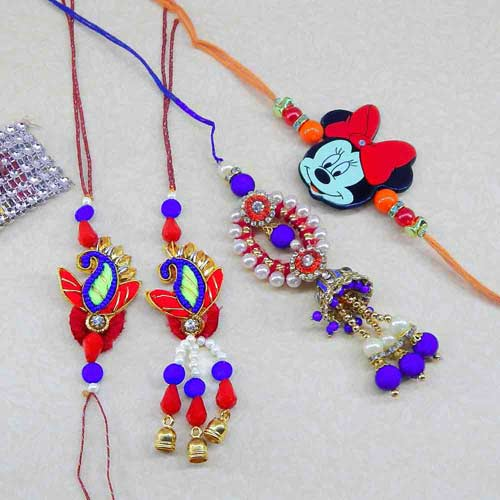 Family Rakhi Set - 12 - CANADA Delivery Only