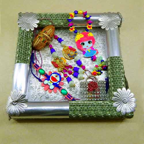 Handmade Family Rakhi Tray - 13 - CANADA Delivery Only