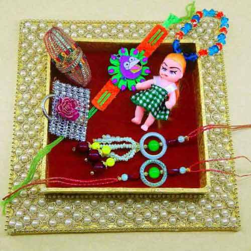 Handmade Family Rakhi Tray - 15 - UK Delivery Only