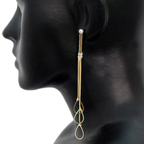 Beautiful Golden Colour Drop Earrings