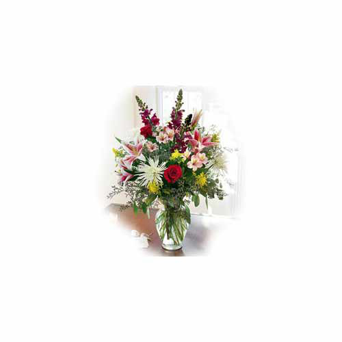 Bunch of Seasonal Flowers & Roses - India Delivery