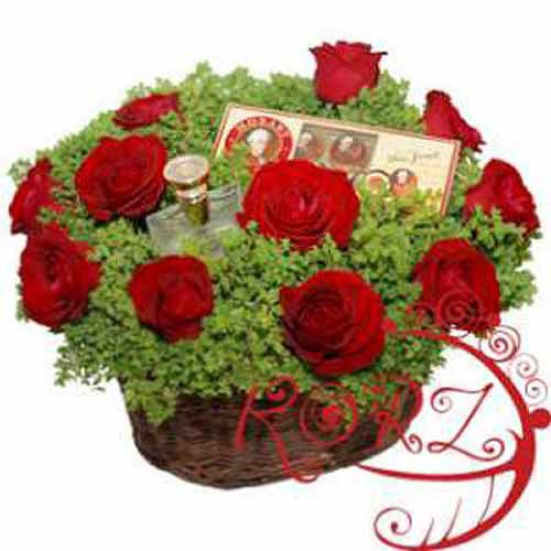 Deeper Than Roses Basket - Belarus Delivery Only